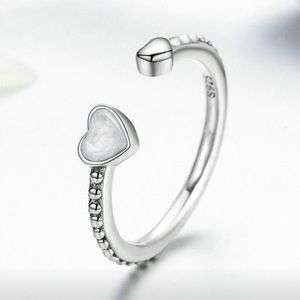 Just IN!925 Sterling Silver double love Heart Ring